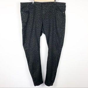 Torrid Denim Black Leopard Print Jeans Size 20